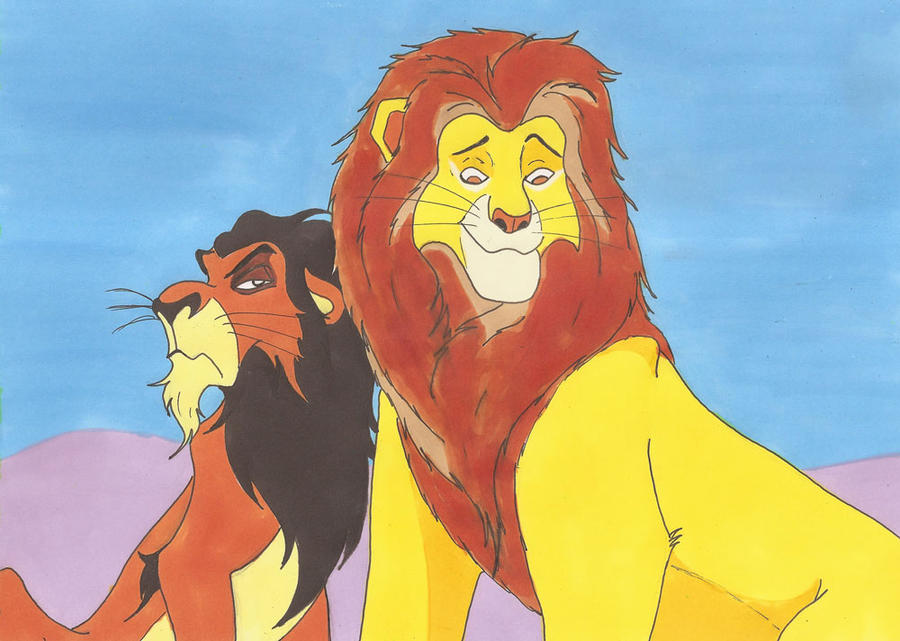The lion king mufasa and scar - photo#28