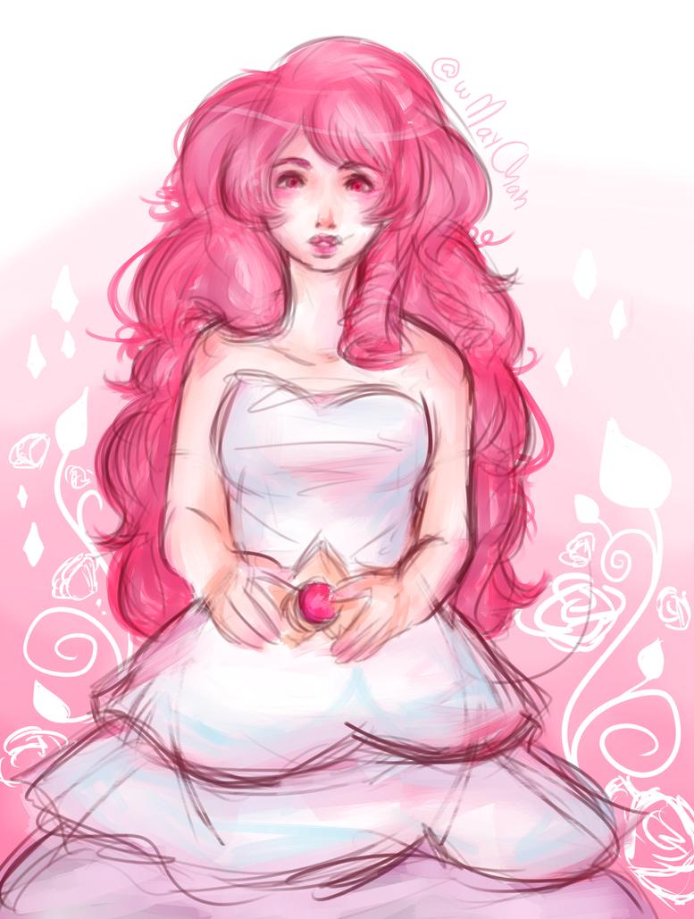 sketch + paint of Rose Quartz, from Steven Universe Brush test Hope u all enjoy it ♥