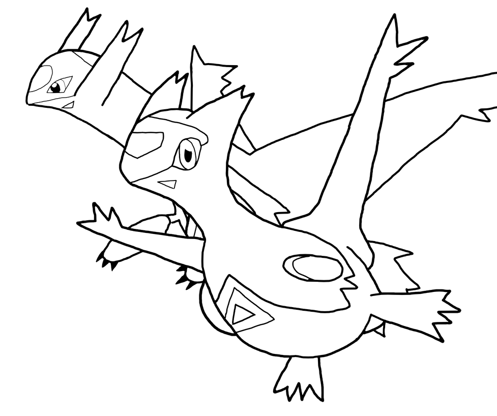 latias and latios coloring pages - photo#7