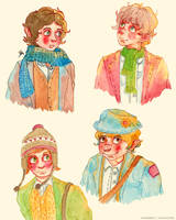 Four Hobbits