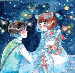 Rei and Hina by merrinou