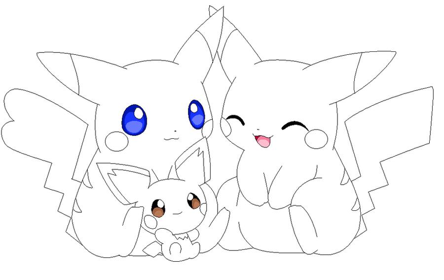 Raichu and pikachu coloring pages - Hellokids.com
