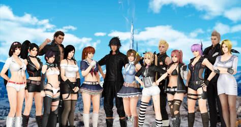 DOA Fantasy XV Photography Groups by Milefortune