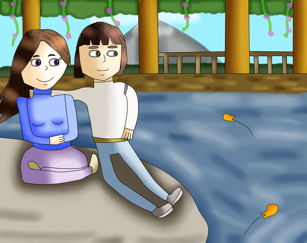 Gift- Haku And Annabel By The River by MyMelodyOfTheHeart