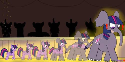 Princess Twilight Sparkle Into Elephant TF by MyMelodyOfTheHeart