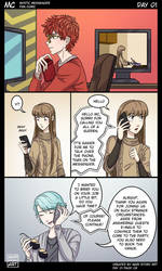 MC Day One Pg 9 Mystic Messenger by MariStoryArt