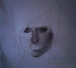 Kimberly Wyatt WIP 1 by babygirlsart
