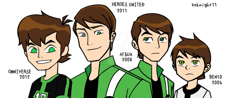 2005 to 2012 Ben TennysonS by 4eknight11