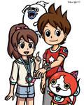 Youkai Watch Keita and Fumi