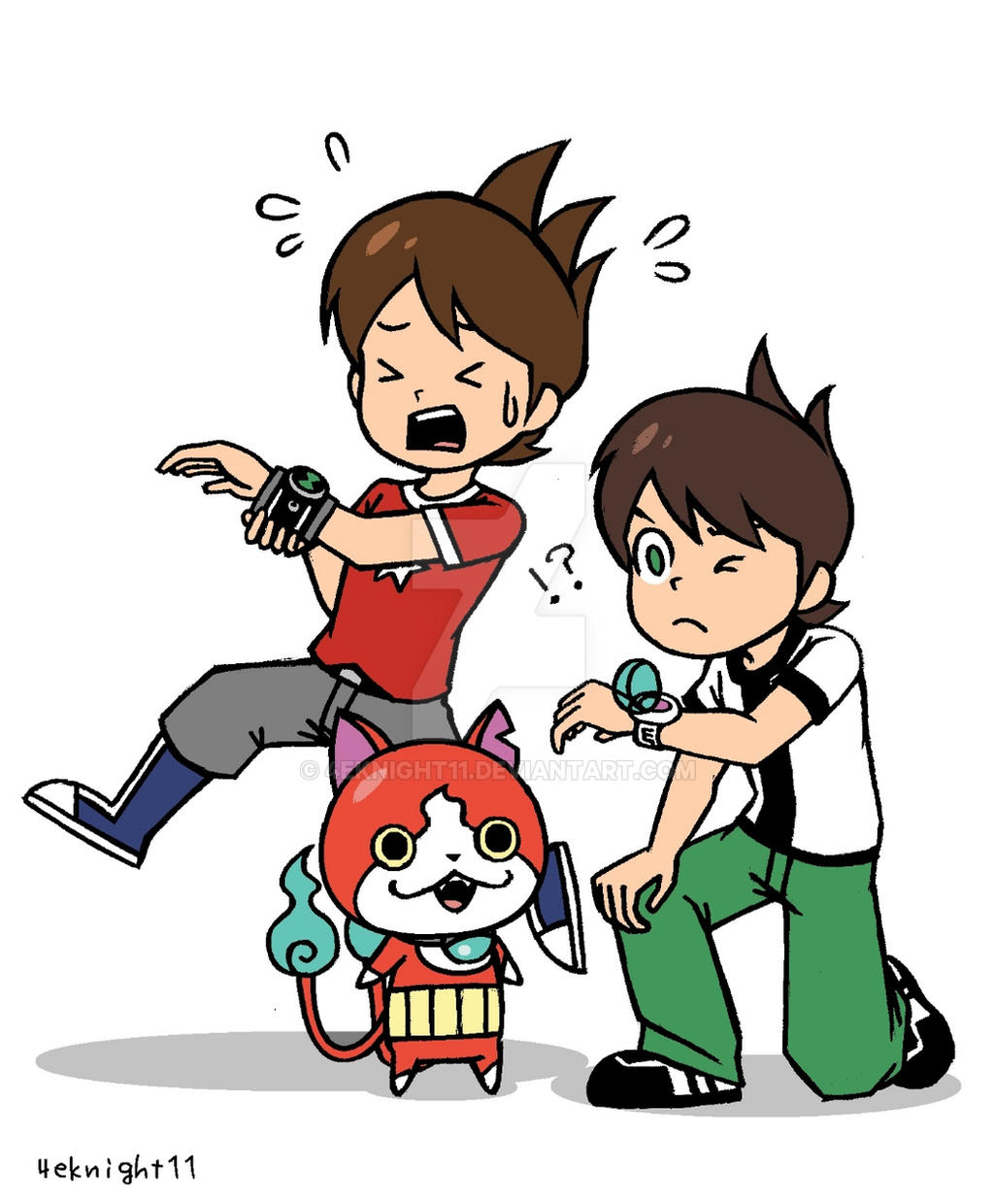 BEN10 And Youkai Watch By 4eknight11 On DeviantArt