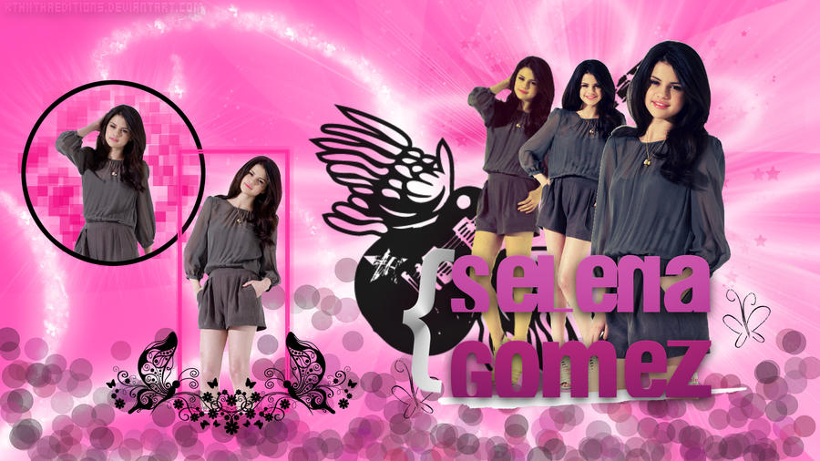 Wallpaper Selena Gomez Pink by KthiithaEditions on DeviantArt