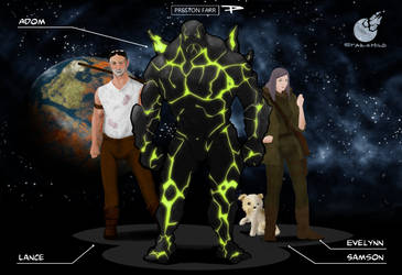 Starchild Character Lineup by Xavisavvy