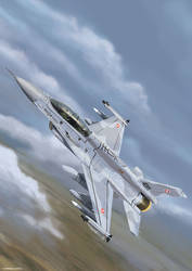 F-16 D Fighting Falcon by Sabbstone