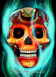 end up in smoke - skull
