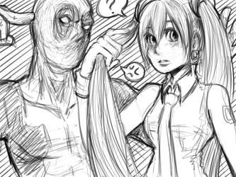 miku and deadpool ..again
