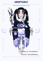 [OPEN] Adoptable Auction: God of night by fallinginblue