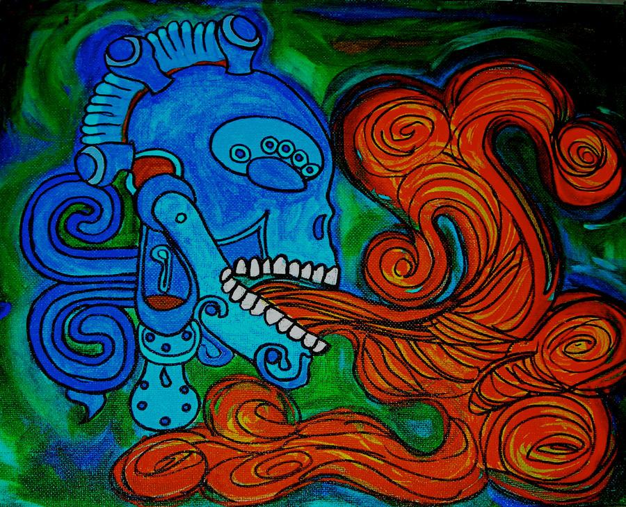 Singing Skull by phluxx