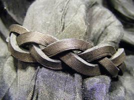 black braid bracelet by BacktoEarthCreations
