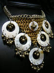 tribal bell and shell necklace