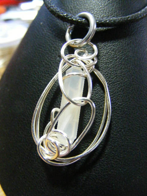 Moonstone Simple Wrap Pendant by BacktoEarthCreations