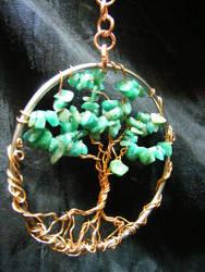 Amazonite and copper tree