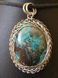 fractal wrapped turquoise