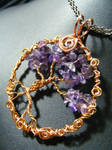 amethyst and copper tree