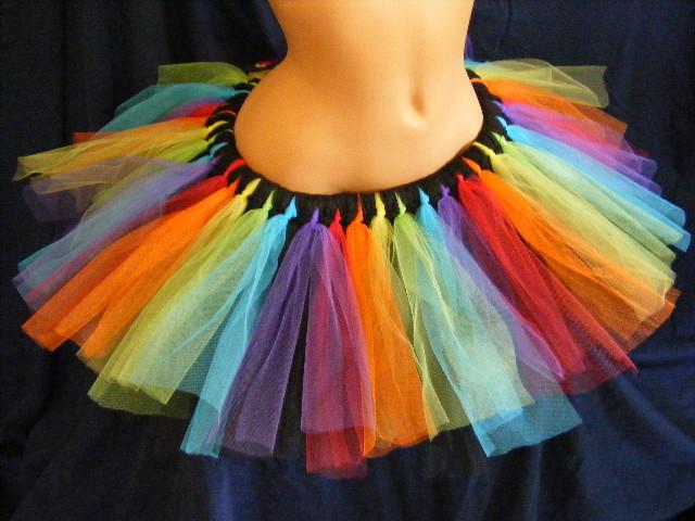 Rainbow And Black Tutu by BacktoEarthCreations
