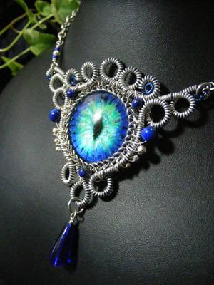 Ice Dragon Eye by BacktoEarthCreations