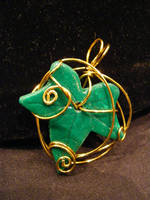 Brass Wrapped Leaf by BacktoEarthCreations