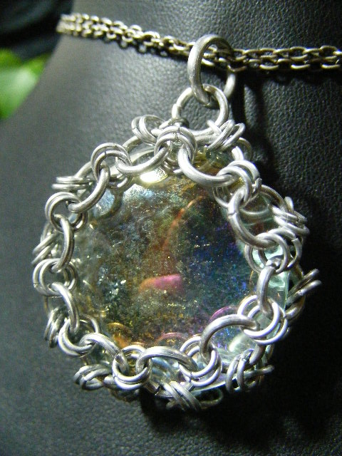 Glass bubble in maille by BacktoEarthCreations