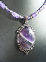 Chevron Amethyst Necklace by BacktoEarthCreations