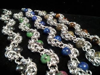 Byzantine waves bracelets by BacktoEarthCreations