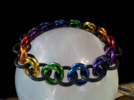 Rainbow Mobius Bracelet