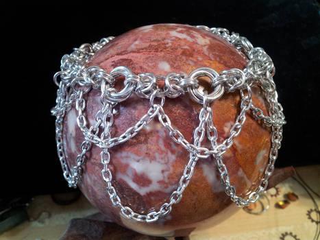 Chain Drape Mozantine Anklet