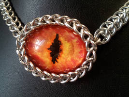Fire Eye In Chainmaille