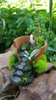 Polymer clay fairy garden