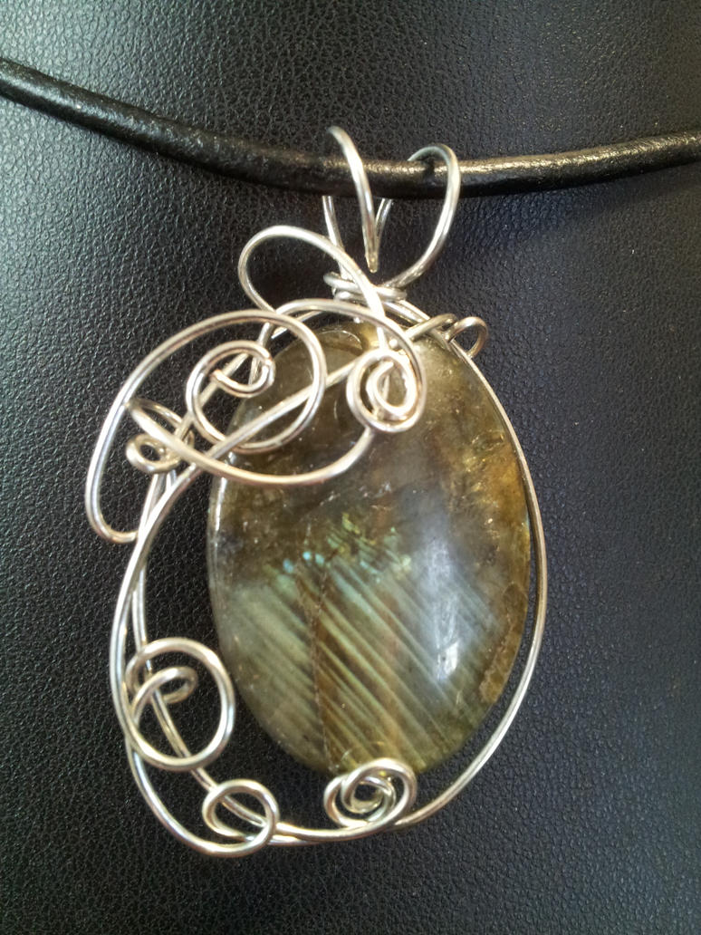 Asymmetrical Labradorite Pendant by BacktoEarthCreations