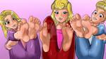 Disney Princesses feet - Commission