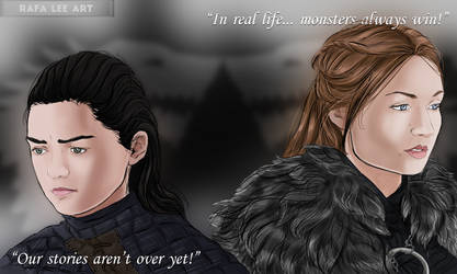 Arya and Sansa Stark - Speed Drawing on my Youtube by TheRafaLee