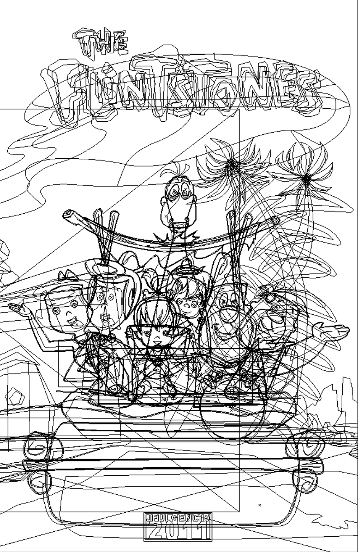 The Flintstones Outline by JFulgencio