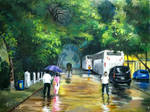 Rainy Day Oil Painting