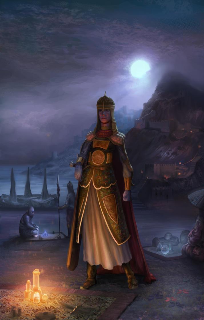 Indian Princess Warrior by Malakuko