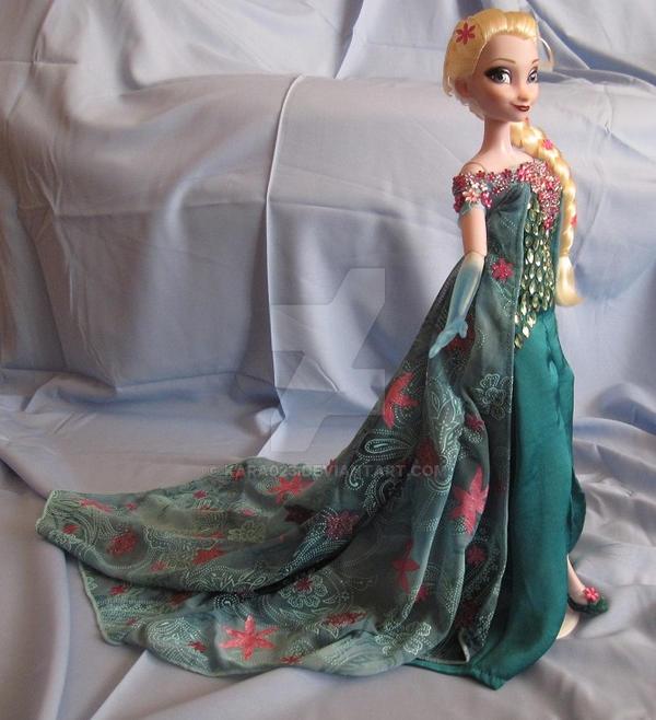 Elsa OOAK Doll from Frozen Fever