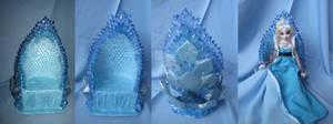 Frozen - Ice Queen Elsa Throne details