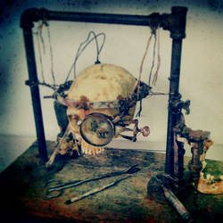 steampunk skull by demskicreations
