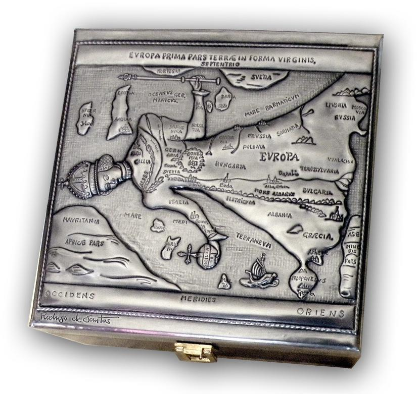 MAP OF EUROPE BOX by arteymetal