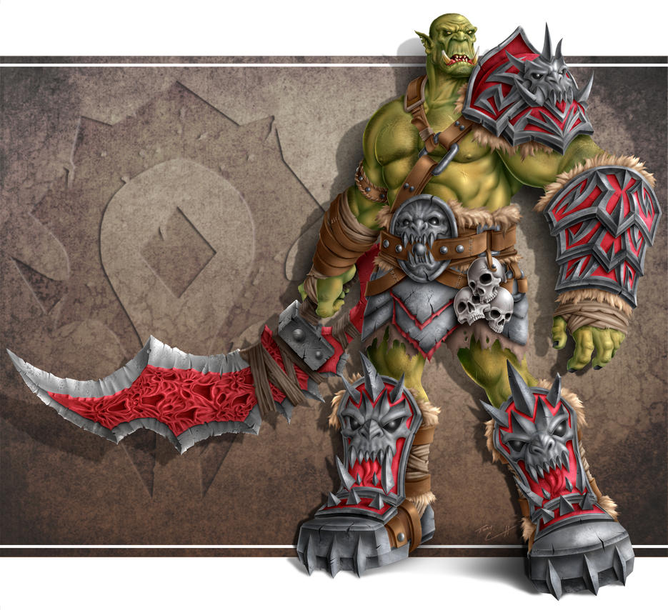 Orc Demon Warrior by TK2397