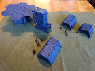 Sci-Fi Landing Pad and Shelters