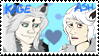 Kage X Ash stamp by goldypirate